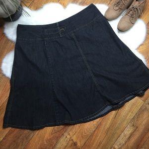Cato circle denim skirt
